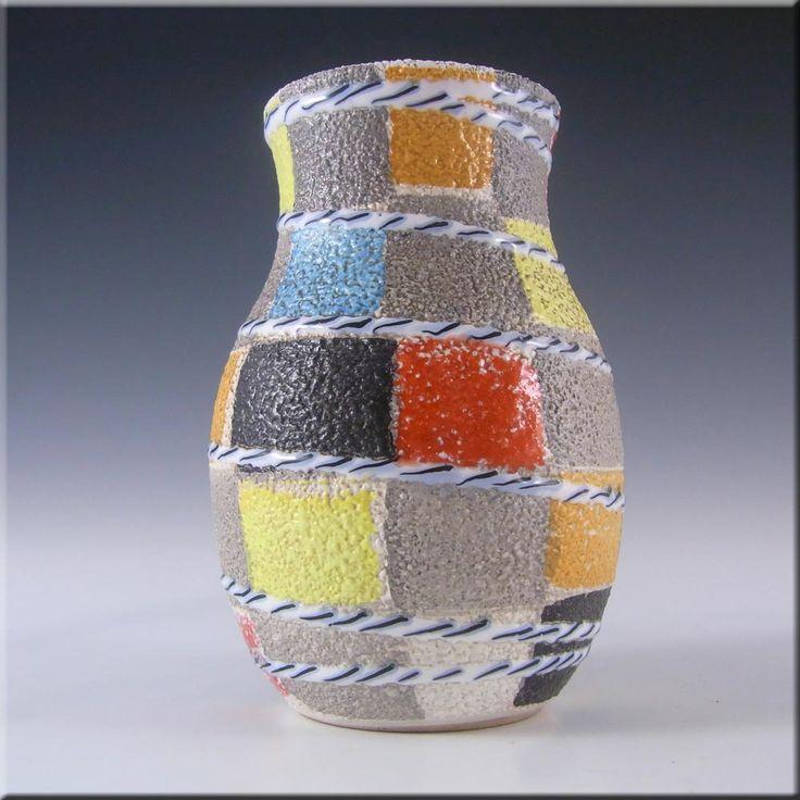 Fratelli Fanciullacci Italian Ceramic Textured Pottery Vase - £30.00