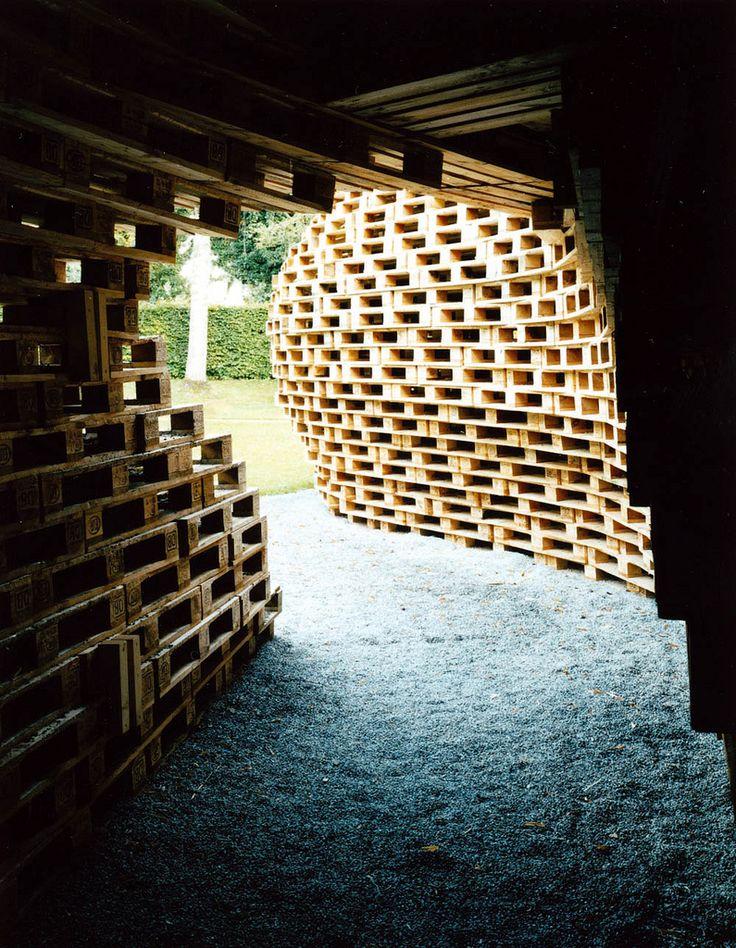 Inside Wooden Pallet Sculpture