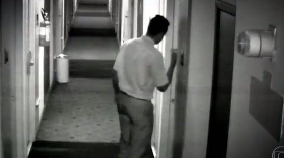 Vídeo mostra estuprador saindo de quarto de vítima em hotel