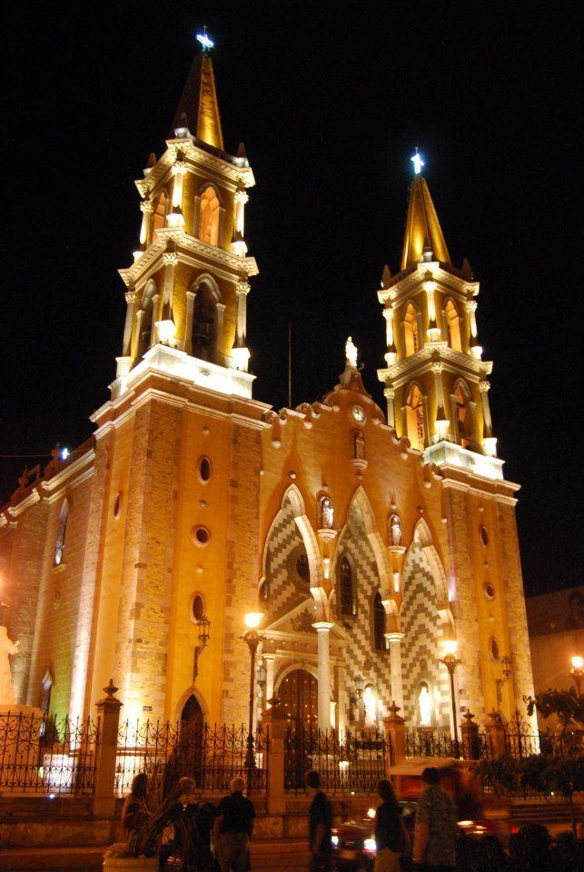Mazatlan Cathedral at night, Mazatlan, Mexico: where I was christened