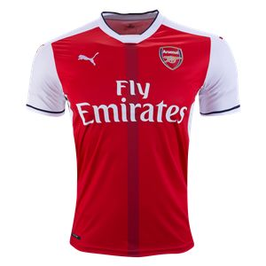 Arsenal 16/17 Home Soccer Jersey - Check out the latest British Premier League Soccer Jerseys and your favourite clubs apparel for 2016/17 at WorldSoccershop.com