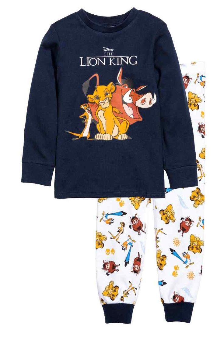 Pigiama maglia e pantaloni - Blu scuro/Il Re leone - BAMBINO | H&M IT 1