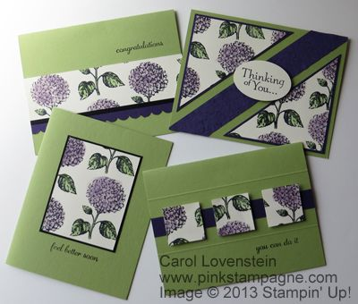 """4th of 6 pages to create 13 cards from one 12"""" x 12"""" paper using Best of Flowers.  :)"""