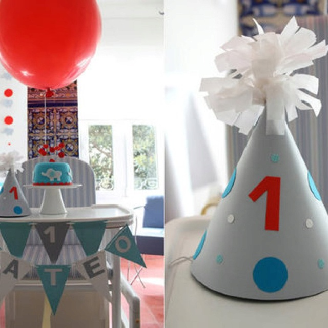 First birthday...like the highchair banner