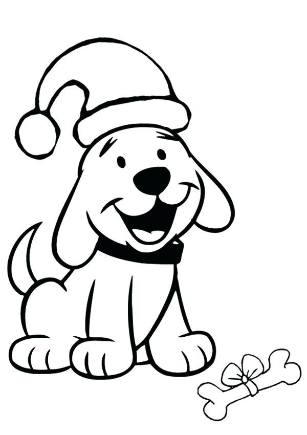 Image Result For Dog Wearing Santa S Hat Coloring Page Puppy