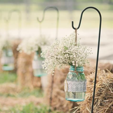 Love this idea for an outdoor country wedding And then use the as centre pieces…