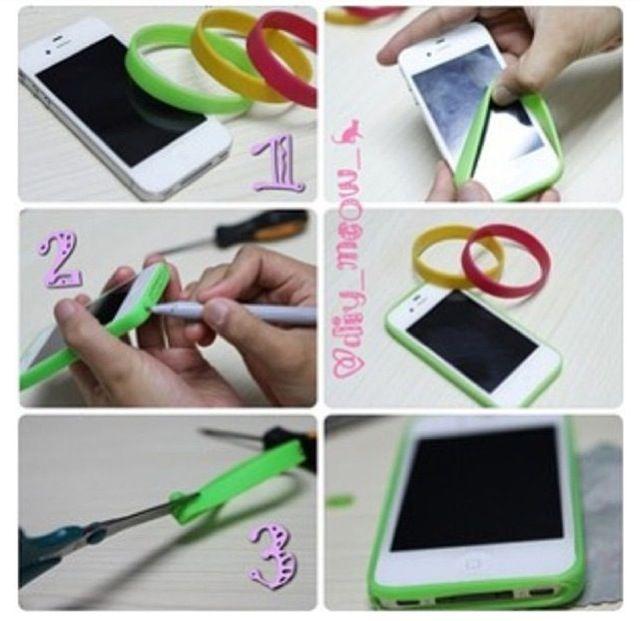 Diy border iphone case diy pinterest for Homemade iphone case