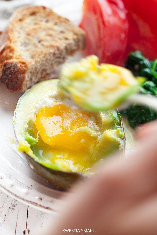 Jajko zapiekane w awokado