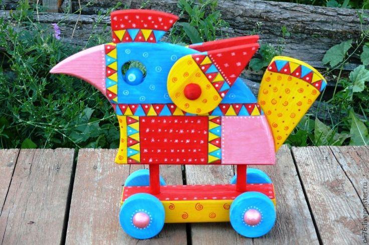 Купить Птица Счастья-2(нашла хозяина)) - птица, роспись, птица счастья, деревянный сувенир, дерево