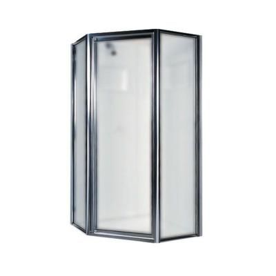 neo angle shower door with obscure