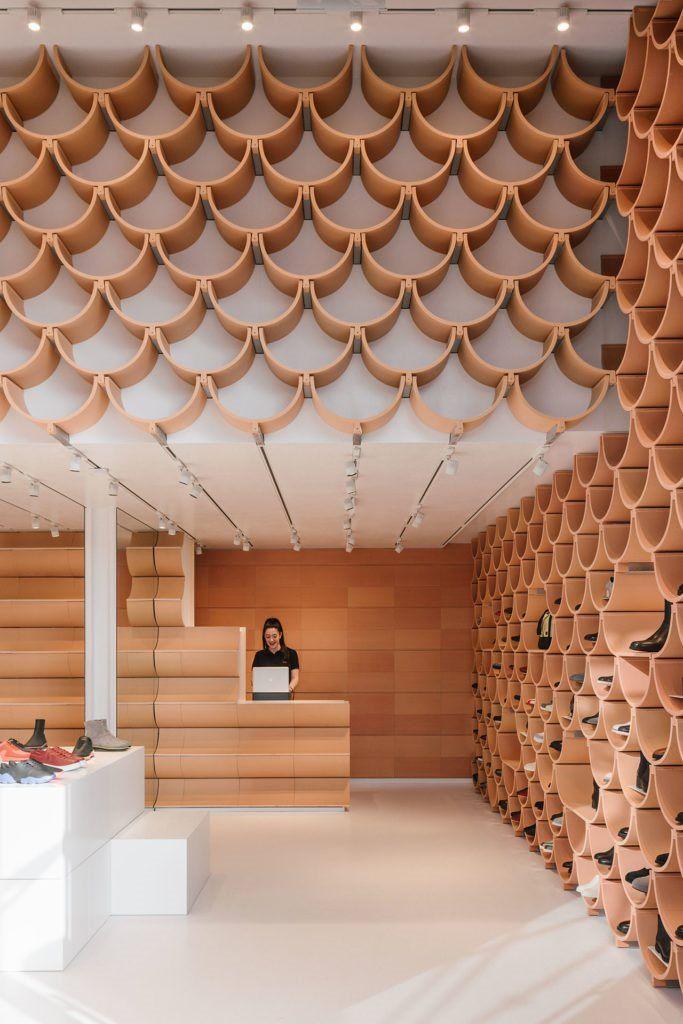 Camper Paseo De Gracia Picture Gallery Shop Interiors Interior Concept Kengo Kuma