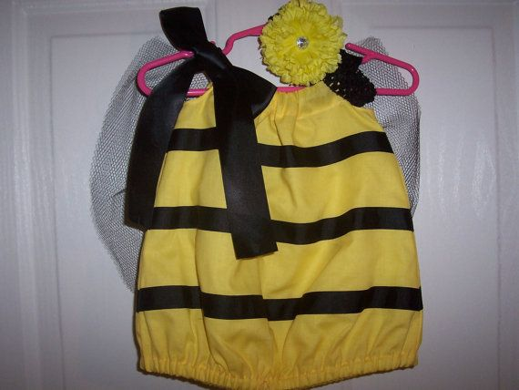 Bumble Bee Halloween Costume Infant Baby Toddler with flower and headband on Etsy, $20.75