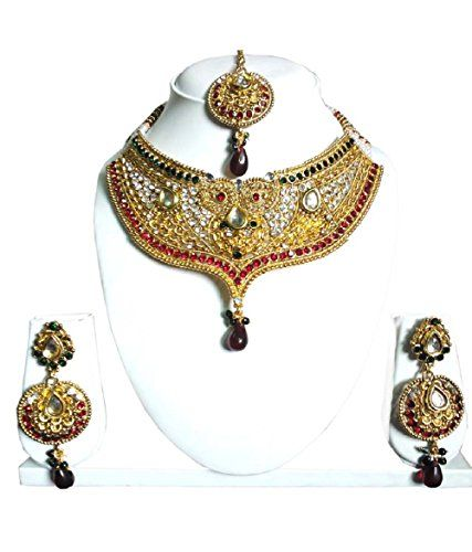 Indian Bollywood Dazzling Gold Plated Red & Green Stone W... https://www.amazon.com/dp/B06WD31HF7/ref=cm_sw_r_pi_dp_x_aD9PybA9M1HKM