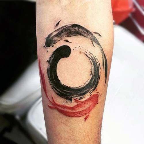 5274 best images about cool tattoos on pinterest for Yin yang fish tattoo