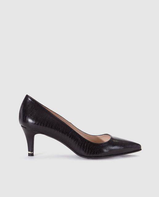 Zapatos de salón de mujer Zendra Basic de piel en color negro ... 674ce1a49cd