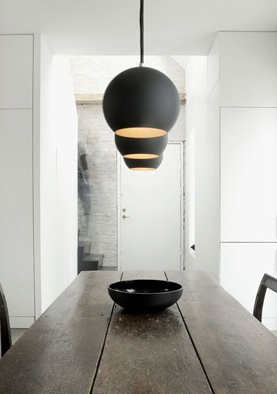 Verner Panton Topan Lamp in Black with Gold Plated Interior | Available from NOVA68.com Modern Design