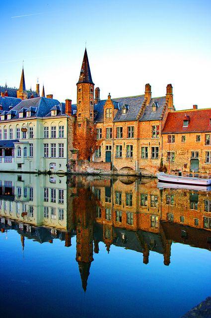 sunsurfer:    River Reflection, Bruges, Belgium   photo via dreamerland
