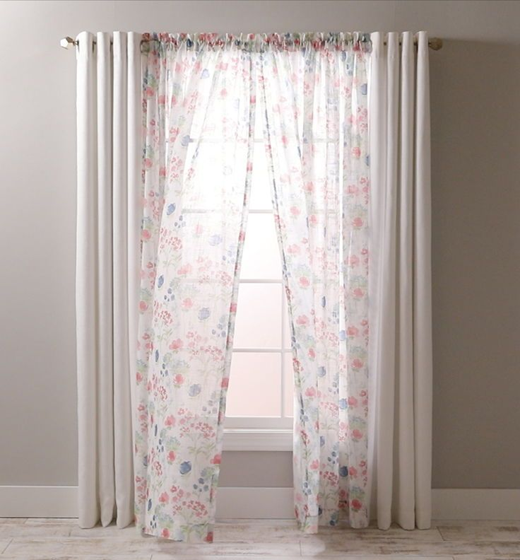 Home Panel Curtains Better Homes And Gardens Sheer Curtain Panels