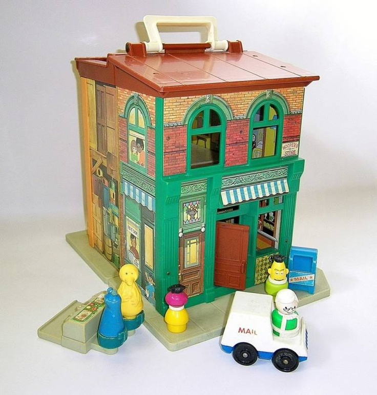 Classic Fisher Price Toys : Sesame street house i loved this the s