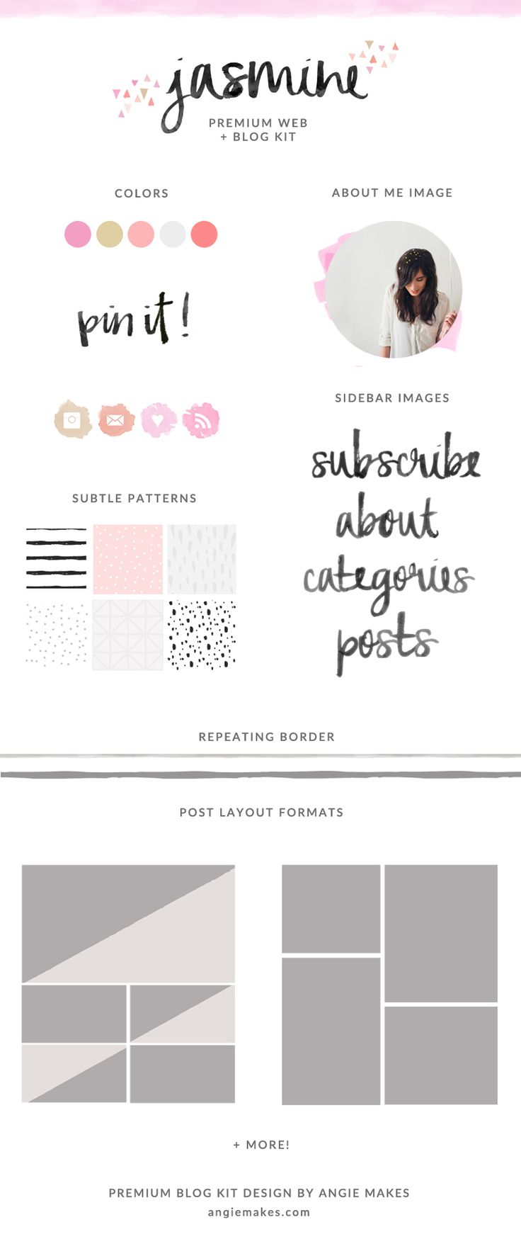 Premade Blog Graphics Kit. Perfect to spruce up your blog design in no time. | angiemakes.com
