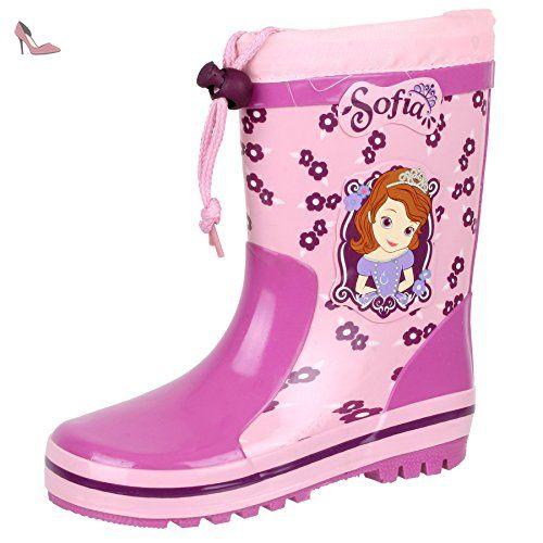 Disney , bottes en caoutchouc fille - Rose - rosa + pink, - Chaussures disney (*Partner-Link)