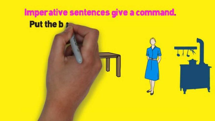 Four Kinds of Sentences Song, Four Types of Sentences by Melissa...... This song illustrates and differentiates between imperative, interrogative, declarative, and exclamatory sentences.  The examples and music combine to create a memorable framework for memorizing the attributes that differentiate these sentence types. http://grammarsongs.com/