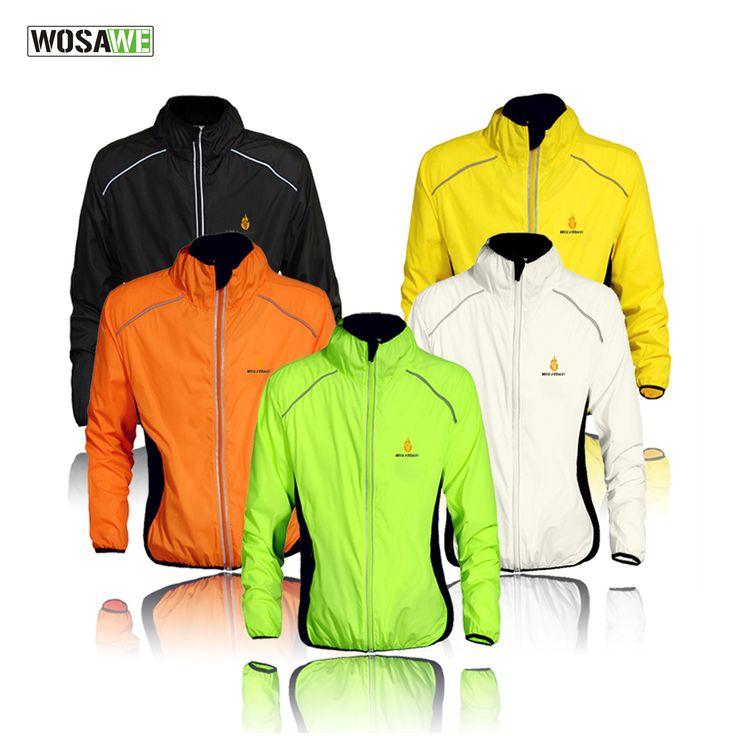 Wosawe防風サイクリングジャケット男性女性乗馬防水サイクルウェアバイク長袖ジャージsleevlessベスト風コート