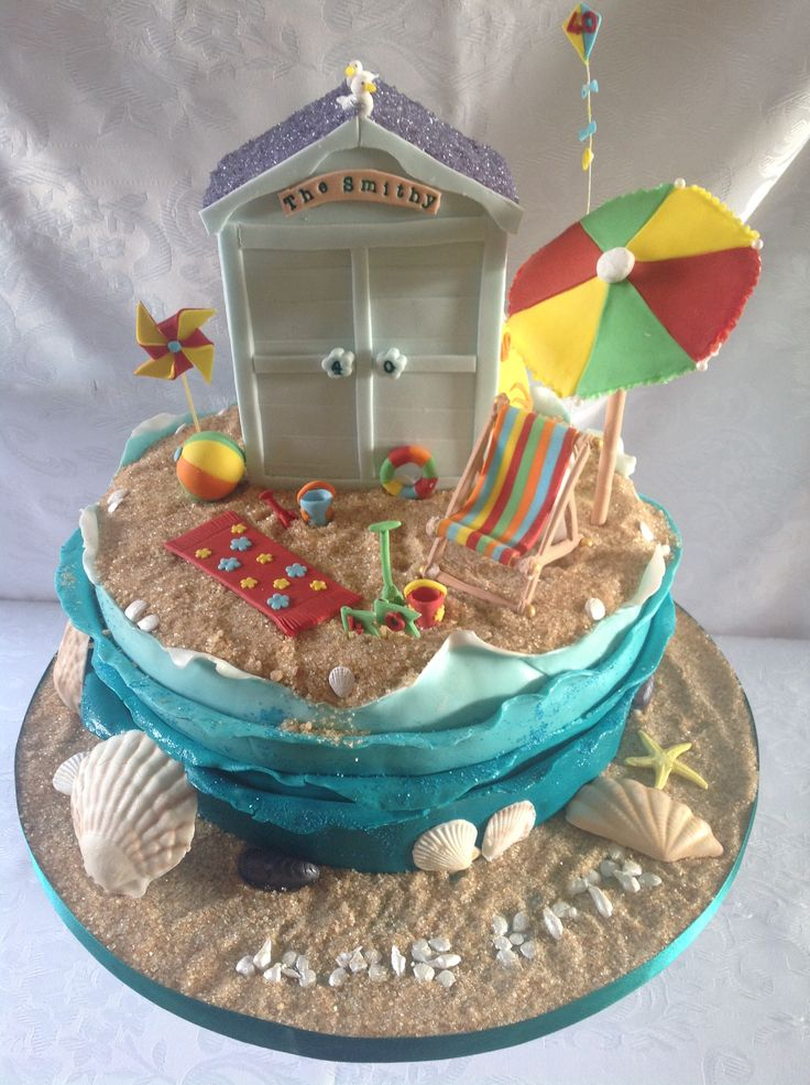 43 best images about Beach hut cakes on Pinterest | Cakes, Wedding cakes and Beaches