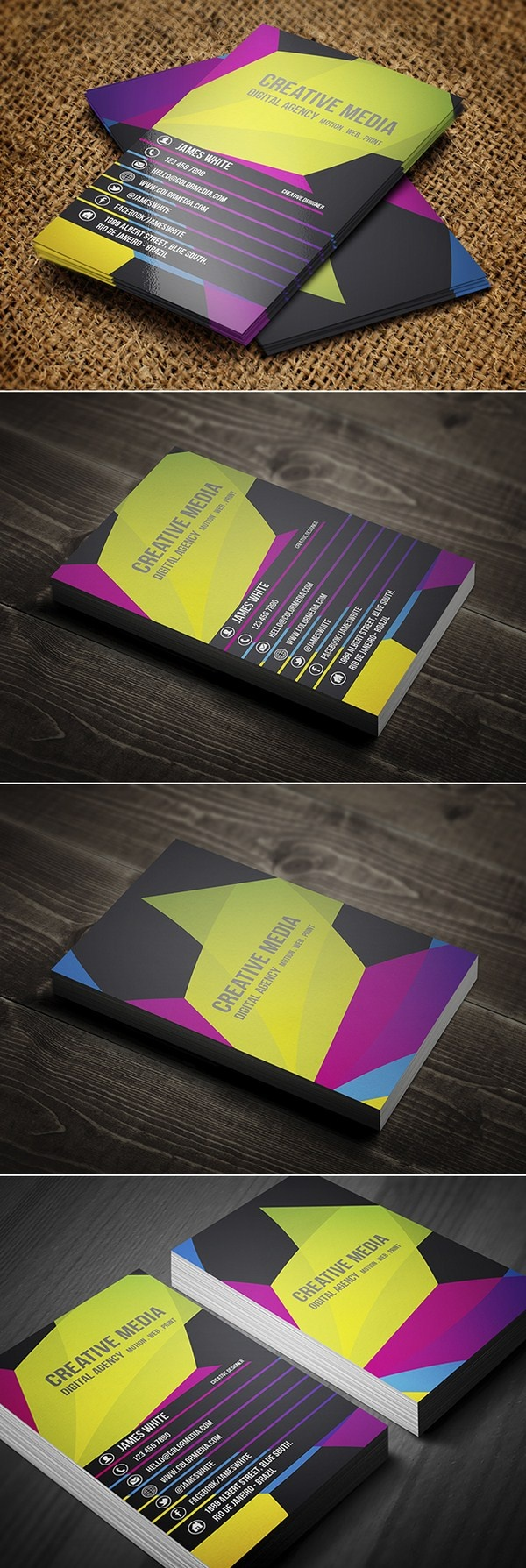 colorful Business Cards  for creative agency