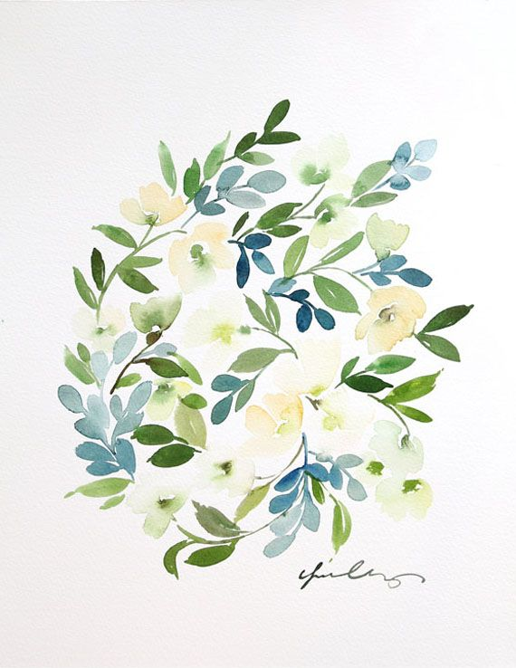 Floral Cluster in Blue — Yao Cheng Design