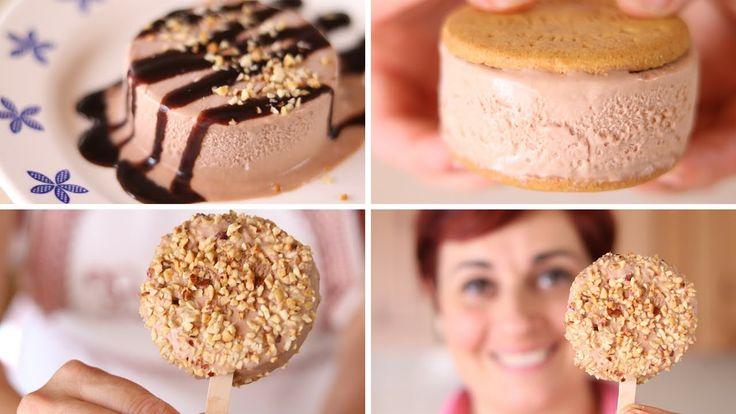 Facciamo il gelato alla Nutella con un metodo facile senza gelatiera, un dolce divertente e goloso perfetto per le giornate estive!