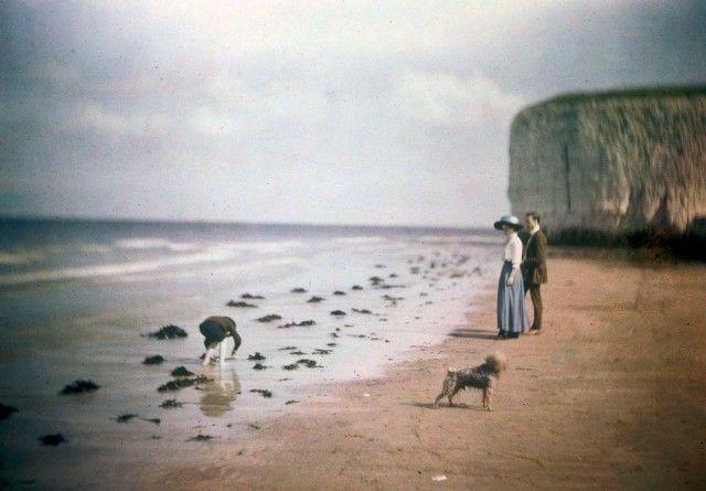 Цветные фотографии начала 1900-х годов, похожие на призрачные видения
