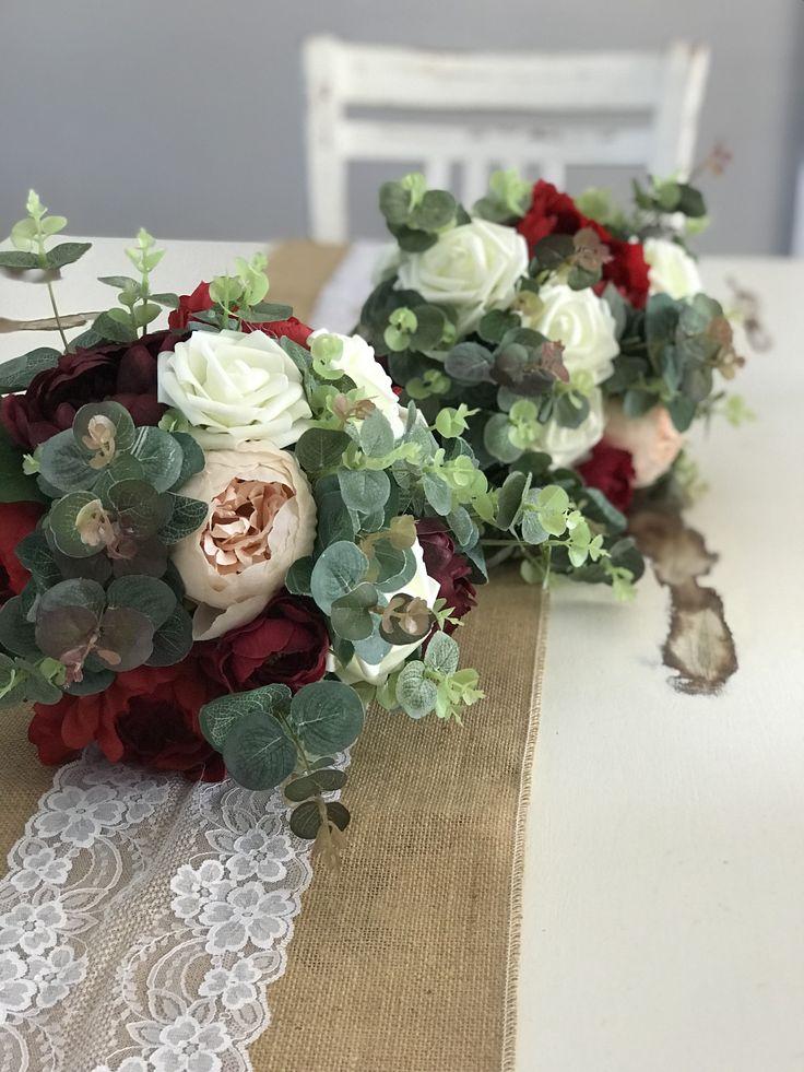 Blush pink bridal bouquets