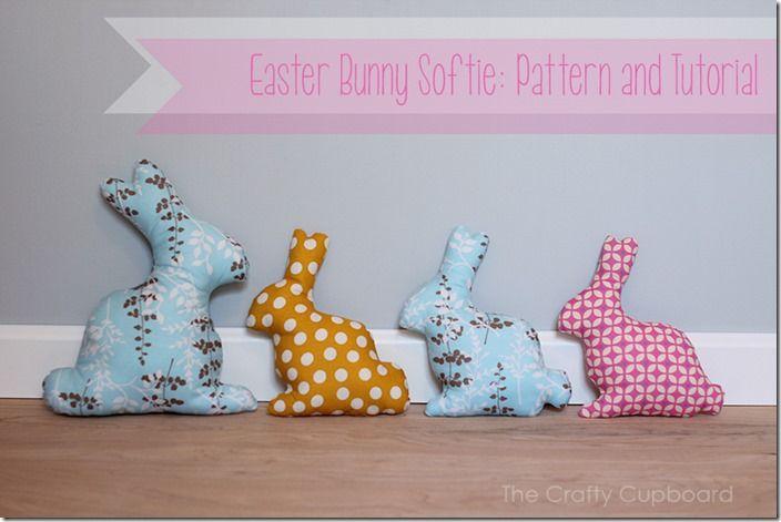 Tuto + Patron : petit lapin de Pâques