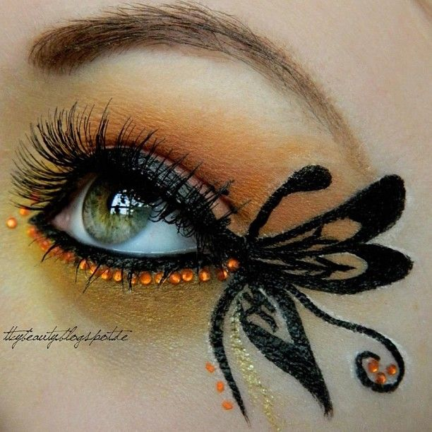 Kiss Makeup Design Ownership: Gorgeous Butterfly Inspired Eye Make-up Accented With Eye