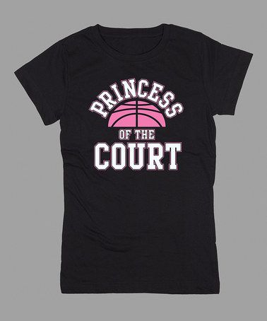 Take a look at this Black 'Princess of the Court' Fitted Tee - Girls by KidTeeZ on #zulily today!