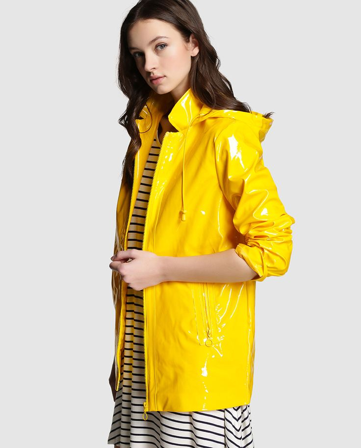 Chubasquero de mujer Easy Wear amarillo con capucha · Easy Wear · Moda · El Corte Inglés yellow pvc raincoat