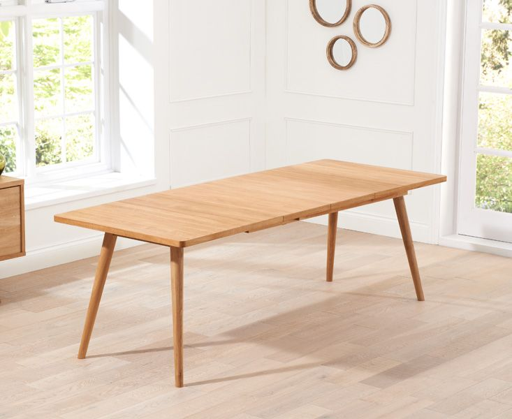 £700 Buy the Tivoli 200cm Retro Oak Extending Dining Table at Oak Furniture Superstore