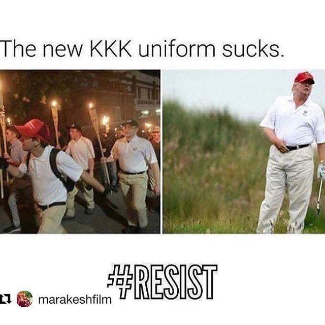"niecynash1 on Instagram: ""#Resist"", the new KKK uniform sucks, Tags: trump"
