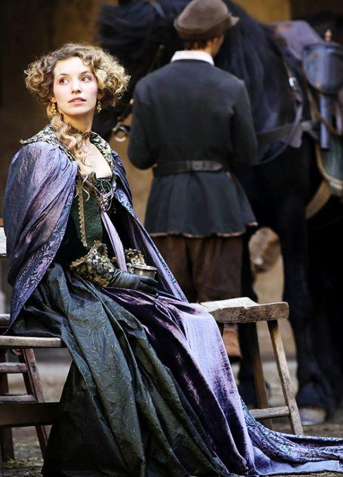Louise - Perdita Weeks in The Musketeers, set in the 1630s (BBC TV series).