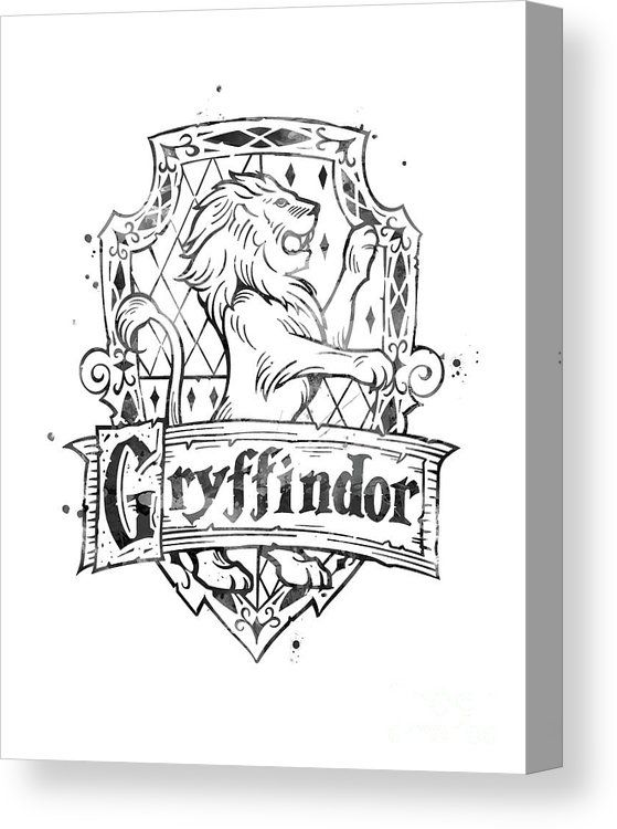 Gryffindor Canvas Print Canvas Art By Monn Print In 2020 Harry Potter Coloring Pages Harry Potter Drawings Harry Potter Crest