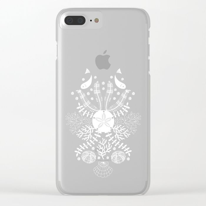 Our super slim Clear iPhone Cases bring a totally different look to your tech. All clear cases feature designs that are heat printed on a transparent, frosted shell. You'll love the embossed texture and high-quality images just as much as you love your phone.      - One-piece build: transparent, frosted hard plastic shell   - Heat-printed design for an embossed texture  #Bouquet #Floral #Sea #Fish #Navy #Mia #Blue #Shell #Urchin #Algae #Summer #Summer-vibes #society6 #Clear #iPhonecase