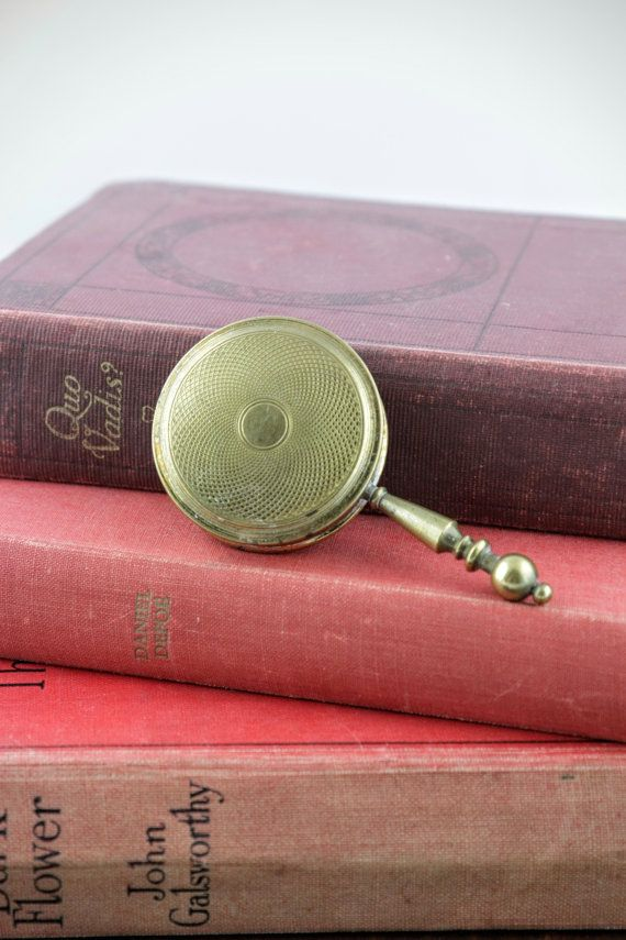 Antique Pillbox by Kigu England  Vintage Brass by LoAndCoVintage