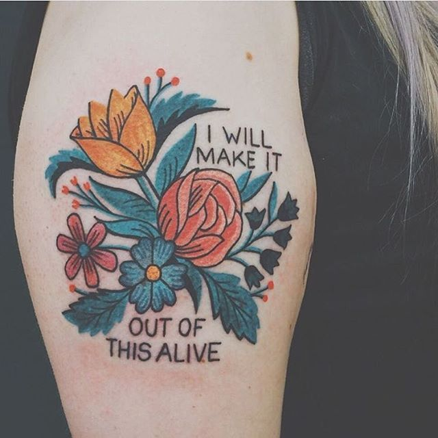 It's Friday evening! YOU DID IT! Always so touching to see tattoos inspired by our bits - this one on @lavender__dream by @alliemariechicago. Our patch originally based on lyrics by @allisonweiss