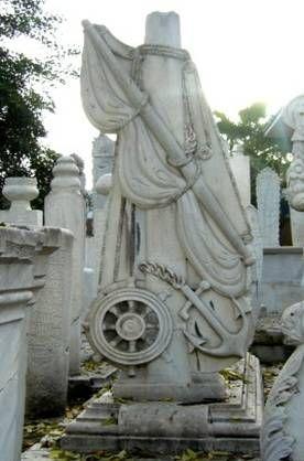 Captain Ibrahim Pasha's tomb in TurkeyPasha Tomb, Captain Ibrahim, Ibrahim Pasha, Cemetery Art, Greek Wars, Gravestonetombston Design, Gravestone Tombstone Design