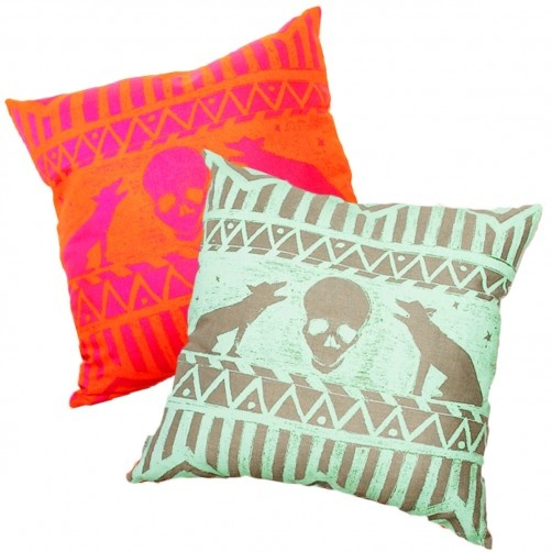 Limited Edition: Howling Wolves Cushion. Evie Kemp