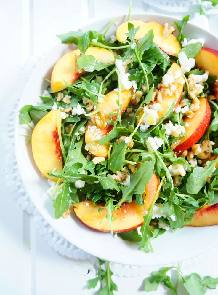 Arugula & Nectarine Salad | Haute & Healthy Living                                                                                                                                                                                 More