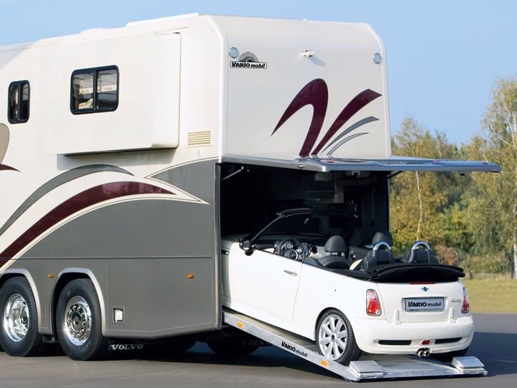 This Luxury Motor Home Comes With A Parking Spot For Your Mini Cooper