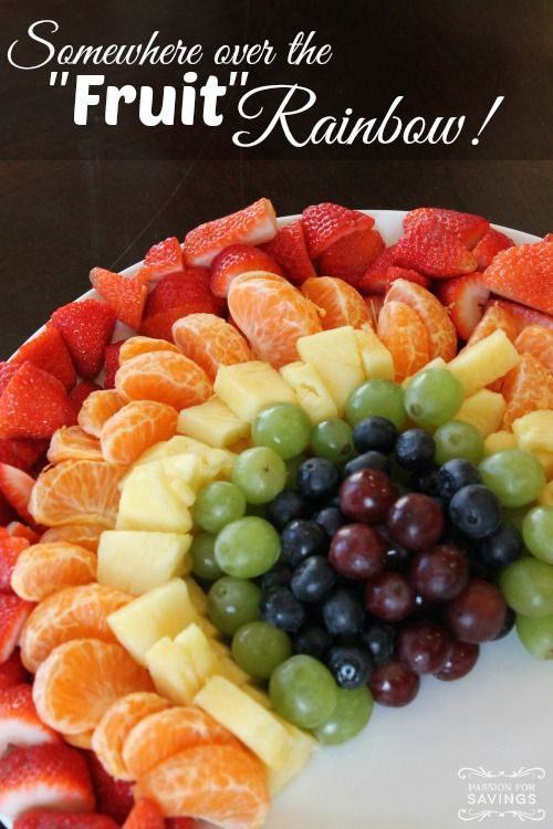 Fruit Rainbow and St Patricks Day Rainbow Food Ideas for Kids and Adults on Frugal Coupon Living