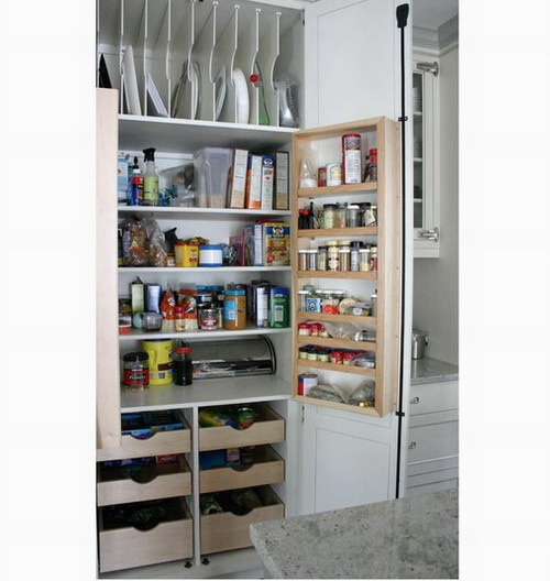 Built In Kitchen Pantry Ideas: Kitchen With Built-in Pantry--- I Like The Top Vertical